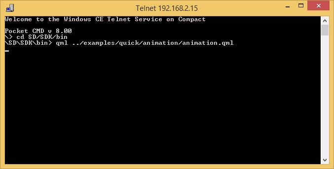 Telnet Screenshot